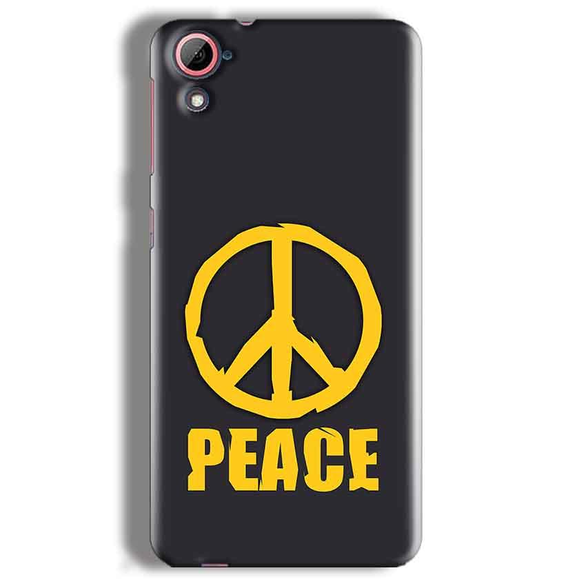 HTC Desire 826 Mobile Covers Cases Peace Blue Yellow - Lowest Price - Paybydaddy.com