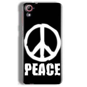 HTC Desire 826 Mobile Covers Cases Peace Sign In White - Lowest Price - Paybydaddy.com
