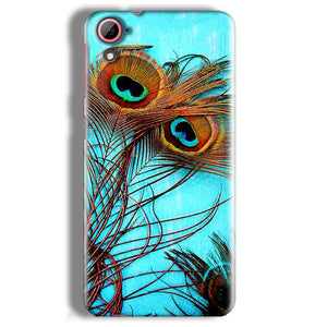HTC Desire 826 Mobile Covers Cases Peacock blue wings - Lowest Price - Paybydaddy.com