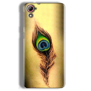 HTC Desire 826 Mobile Covers Cases Peacock coloured art - Lowest Price - Paybydaddy.com