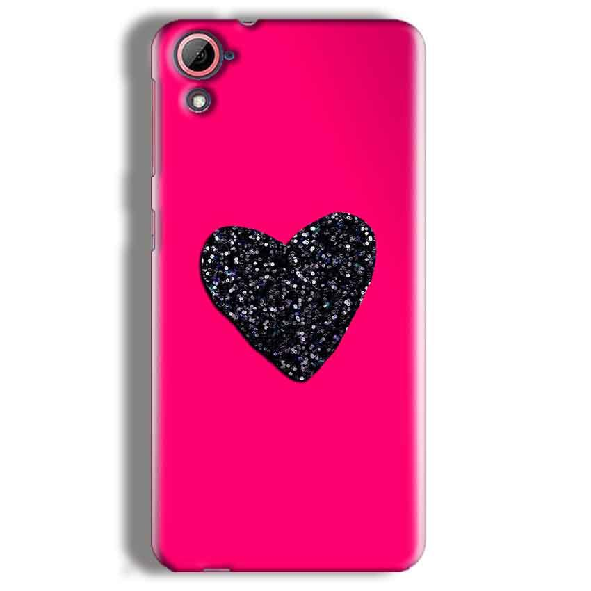 HTC Desire 826 Mobile Covers Cases Pink Glitter Heart - Lowest Price - Paybydaddy.com