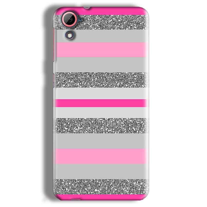 HTC Desire 826 Mobile Covers Cases Pink colour pattern - Lowest Price - Paybydaddy.com