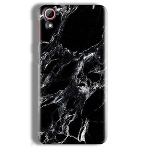 HTC Desire 826 Mobile Covers Cases Pure Black Marble Texture - Lowest Price - Paybydaddy.com