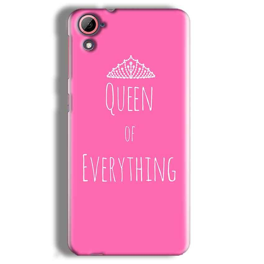 HTC Desire 826 Mobile Covers Cases Queen Of Everything Pink White - Lowest Price - Paybydaddy.com