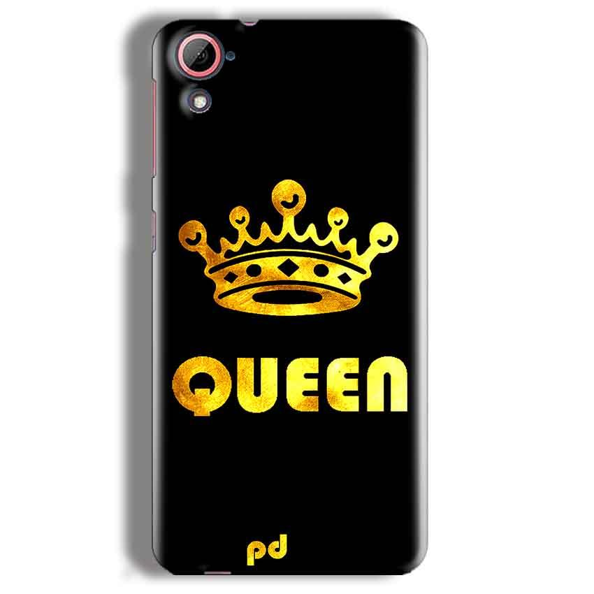 HTC Desire 826 Mobile Covers Cases Queen With Crown in gold - Lowest Price - Paybydaddy.com