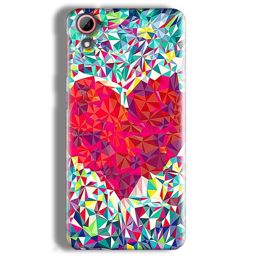 HTC Desire 826 Mobile Covers Cases heart Prisma design - Lowest Price - Paybydaddy.com