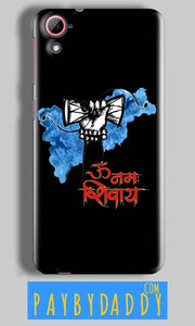 HTC Desire 826 Mobile Covers Cases om namha shivaye with damru - Lowest Price - Paybydaddy.com