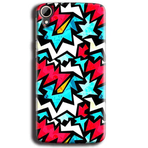 HTC Desire 828 Mobile Covers Cases Colored Design Pattern - Lowest Price - Paybydaddy.com