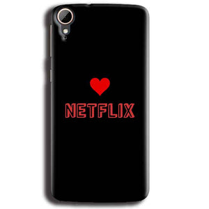 HTC Desire 828 Mobile Covers Cases NETFLIX WITH HEART - Lowest Price - Paybydaddy.com