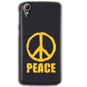 HTC Desire 828 Mobile Covers Cases Peace Blue Yellow - Lowest Price - Paybydaddy.com