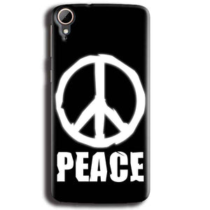HTC Desire 828 Mobile Covers Cases Peace Sign In White - Lowest Price - Paybydaddy.com
