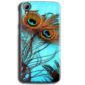 HTC Desire 828 Mobile Covers Cases Peacock blue wings - Lowest Price - Paybydaddy.com