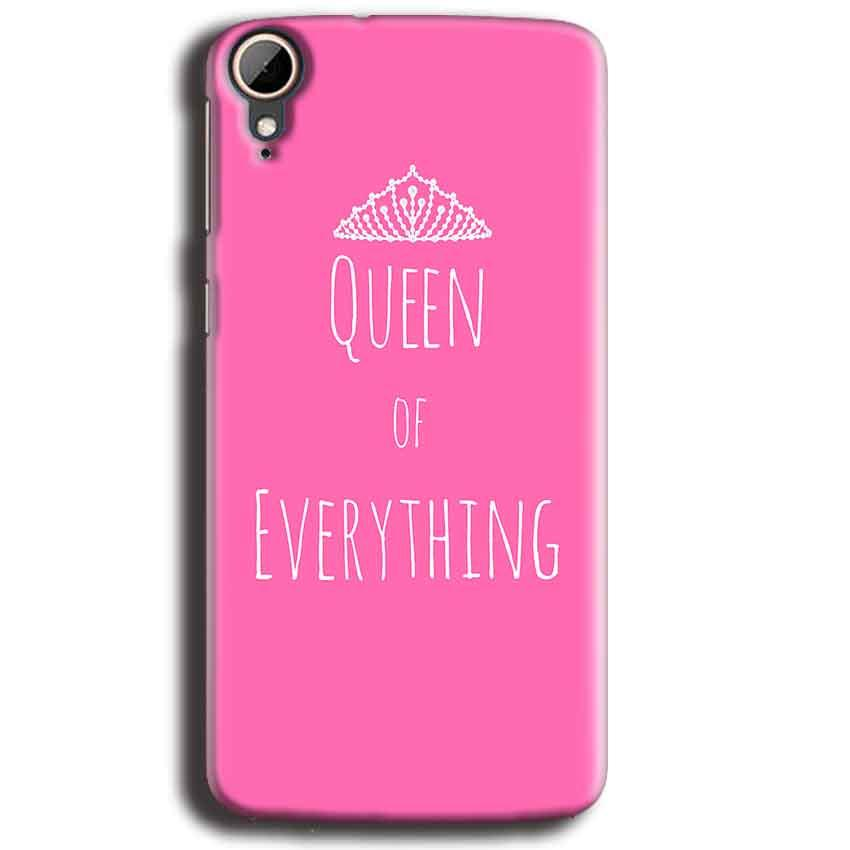 HTC Desire 828 Mobile Covers Cases Queen Of Everything Pink White - Lowest Price - Paybydaddy.com