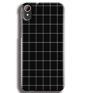 HTC Desire 830 Mobile Covers Cases Black with White Checks - Lowest Price - Paybydaddy.com