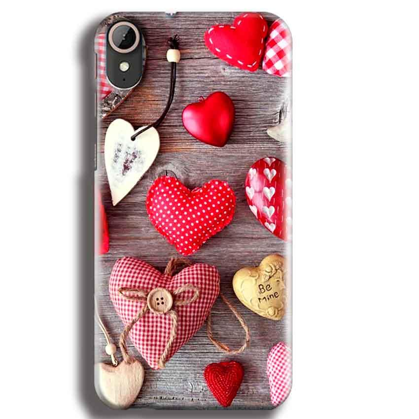 HTC Desire 830 Mobile Covers Cases Hearts- Lowest Price - Paybydaddy.com