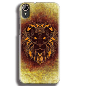 HTC Desire 830 Mobile Covers Cases Lion face art - Lowest Price - Paybydaddy.com