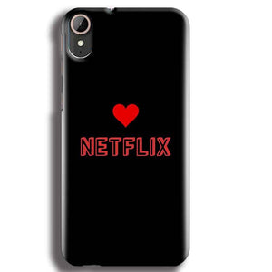 HTC Desire 830 Mobile Covers Cases NETFLIX WITH HEART - Lowest Price - Paybydaddy.com