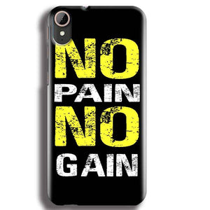 HTC Desire 830 Mobile Covers Cases No Pain No Gain Yellow Black - Lowest Price - Paybydaddy.com