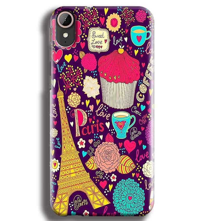 HTC Desire 830 Mobile Covers Cases Paris Sweet love - Lowest Price - Paybydaddy.com