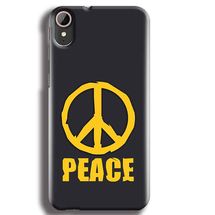 HTC Desire 830 Mobile Covers Cases Peace Blue Yellow - Lowest Price - Paybydaddy.com