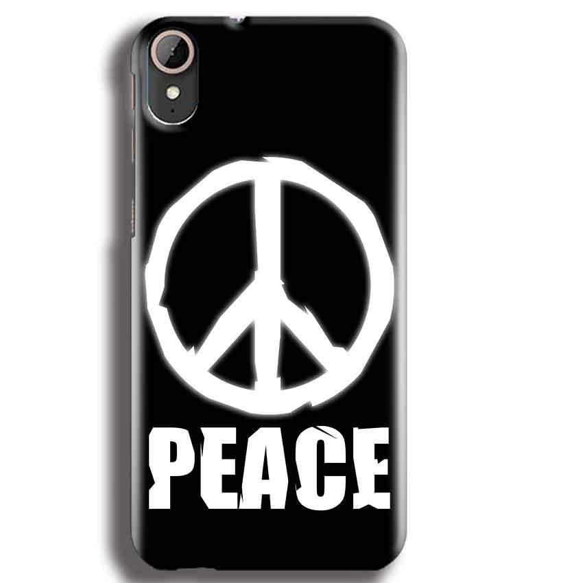 HTC Desire 830 Mobile Covers Cases Peace Sign In White - Lowest Price - Paybydaddy.com