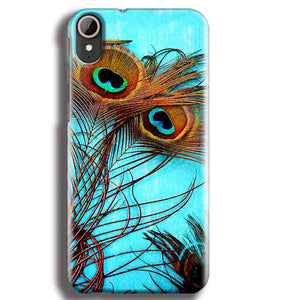 HTC Desire 830 Mobile Covers Cases Peacock blue wings - Lowest Price - Paybydaddy.com
