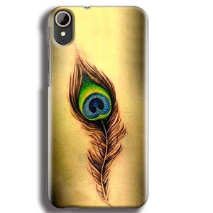 HTC Desire 830 Mobile Covers Cases Peacock coloured art - Lowest Price - Paybydaddy.com