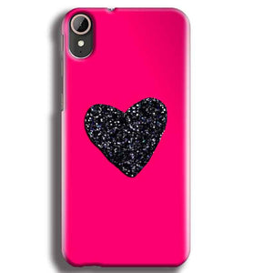 HTC Desire 830 Mobile Covers Cases Pink Glitter Heart - Lowest Price - Paybydaddy.com