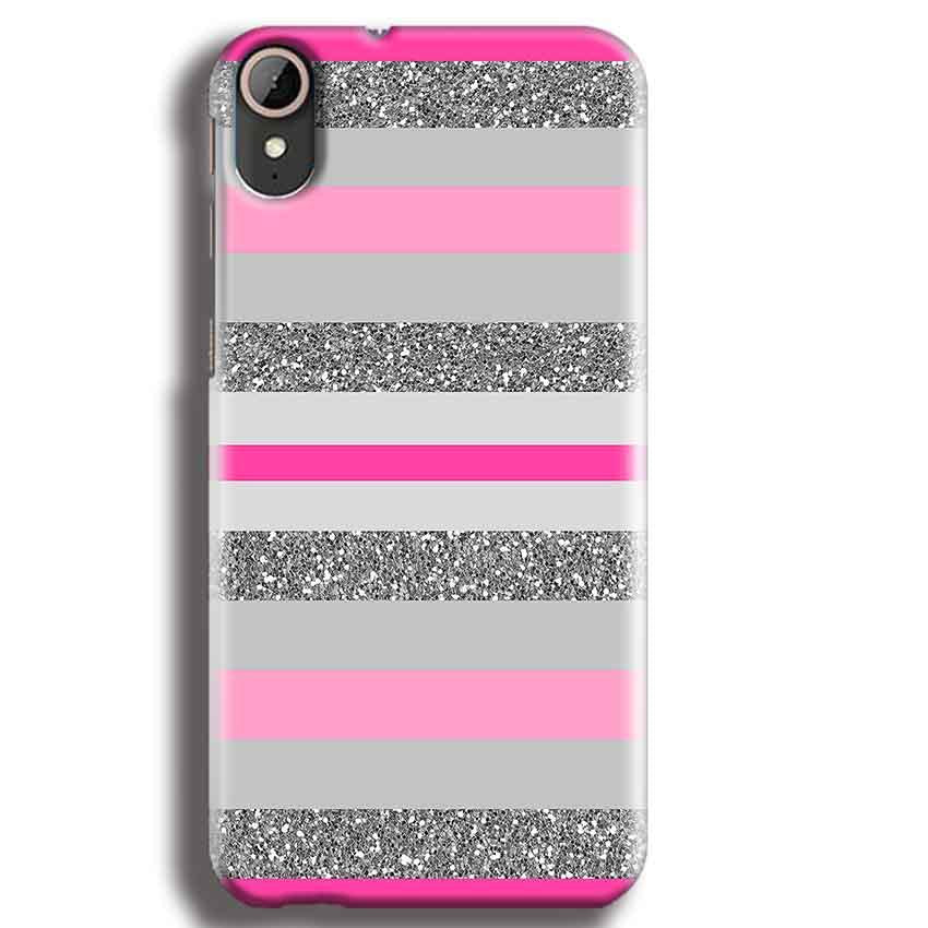 HTC Desire 830 Mobile Covers Cases Pink colour pattern - Lowest Price - Paybydaddy.com