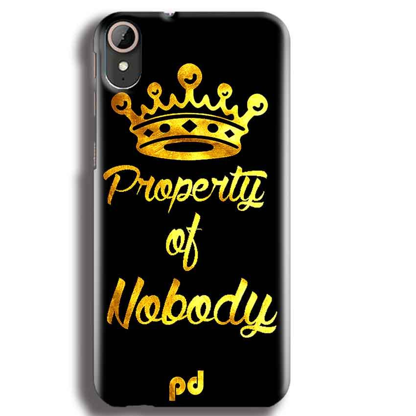 HTC Desire 830 Mobile Covers Cases Property of nobody with Crown - Lowest Price - Paybydaddy.com