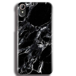 HTC Desire 830 Mobile Covers Cases Pure Black Marble Texture - Lowest Price - Paybydaddy.com