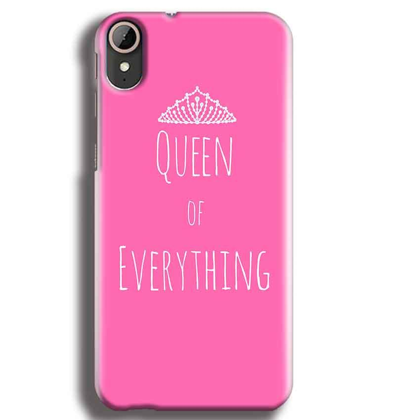 HTC Desire 830 Mobile Covers Cases Queen Of Everything Pink White - Lowest Price - Paybydaddy.com