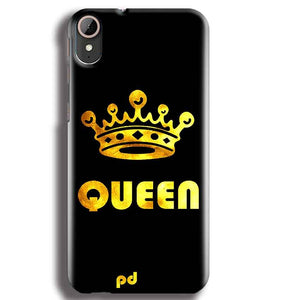 HTC Desire 830 Mobile Covers Cases Queen With Crown in gold - Lowest Price - Paybydaddy.com