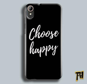 HTC Desire 830 Mobile Covers Cases Choose happy - Lowest Price - Paybydaddy.com