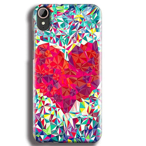 HTC Desire 830 Mobile Covers Cases heart Prisma design - Lowest Price - Paybydaddy.com