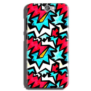 HTC One A9 Mobile Covers Cases Colored Design Pattern - Lowest Price - Paybydaddy.com