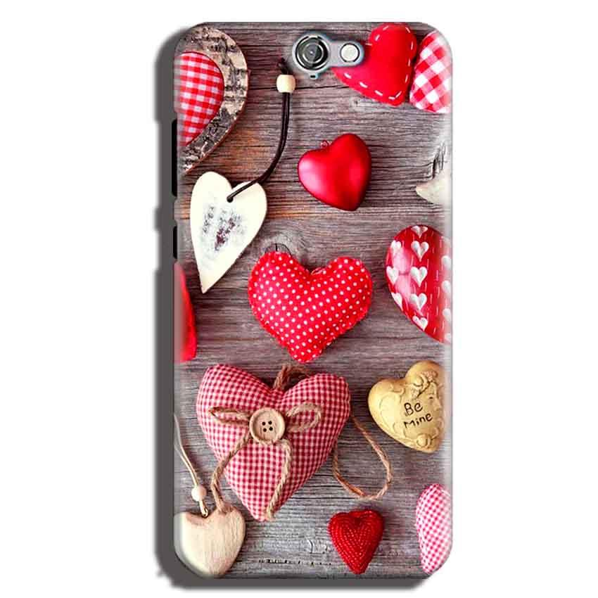 HTC One A9 Mobile Covers Cases Hearts- Lowest Price - Paybydaddy.com