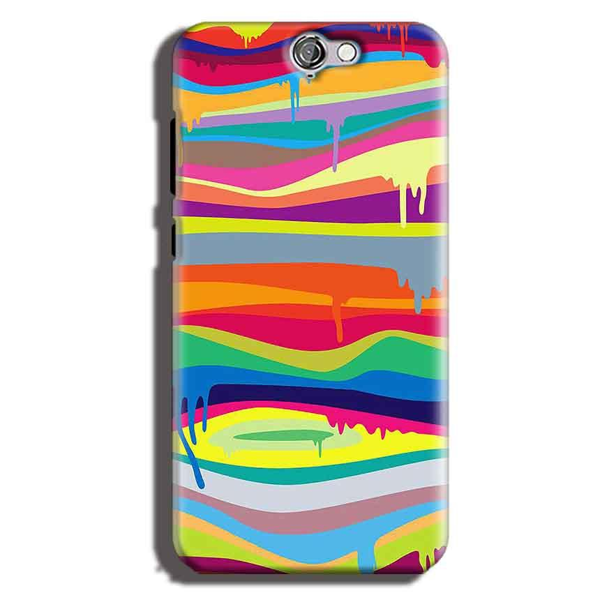 HTC One A9 Mobile Covers Cases Melted colours - Lowest Price - Paybydaddy.com