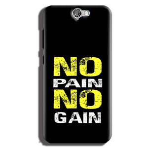 HTC One A9 Mobile Covers Cases No Pain No Gain Yellow Black - Lowest Price - Paybydaddy.com