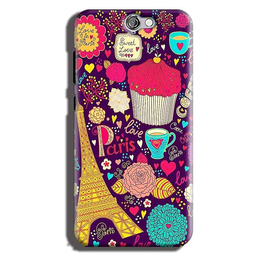 HTC One A9 Mobile Covers Cases Paris Sweet love - Lowest Price - Paybydaddy.com