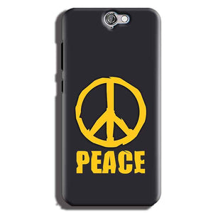 HTC One A9 Mobile Covers Cases Peace Blue Yellow - Lowest Price - Paybydaddy.com
