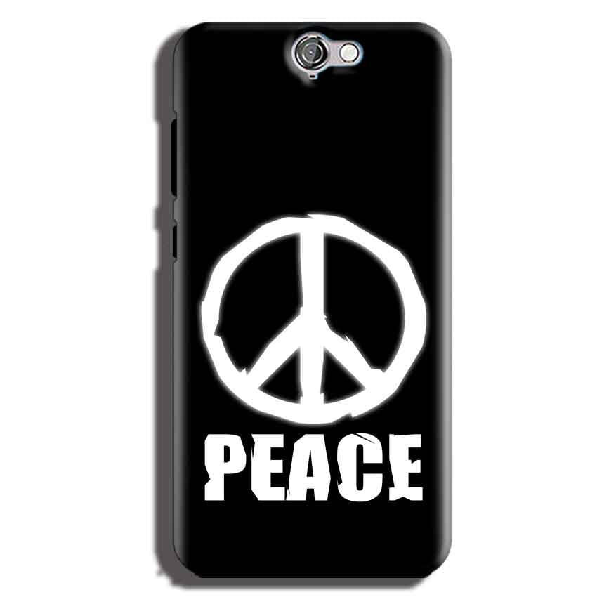 HTC One A9 Mobile Covers Cases Peace Sign In White - Lowest Price - Paybydaddy.com
