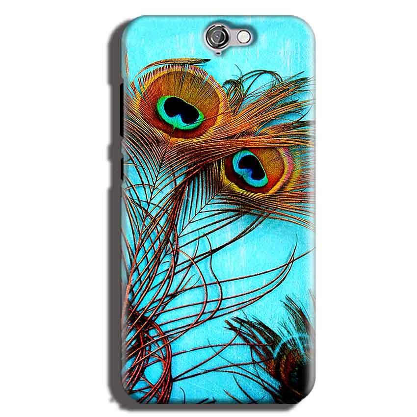 HTC One A9 Mobile Covers Cases Peacock blue wings - Lowest Price - Paybydaddy.com