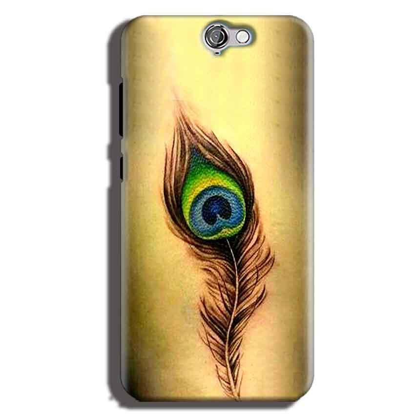 HTC One A9 Mobile Covers Cases Peacock coloured art - Lowest Price - Paybydaddy.com