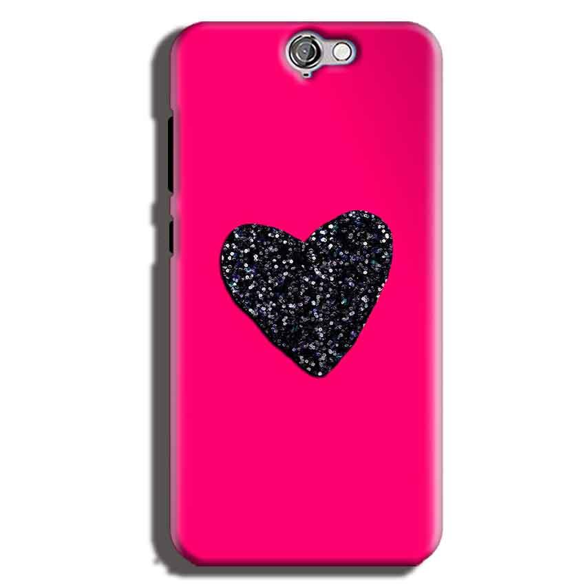 HTC One A9 Mobile Covers Cases Pink Glitter Heart - Lowest Price - Paybydaddy.com