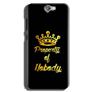 HTC One A9 Mobile Covers Cases Property of nobody with Crown - Lowest Price - Paybydaddy.com