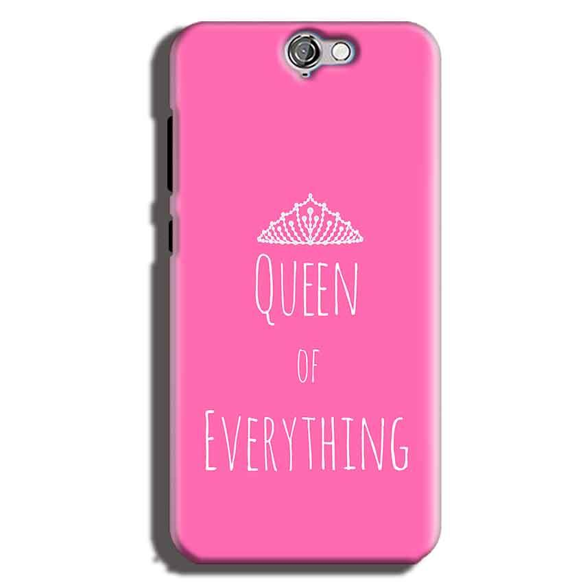 HTC One A9 Mobile Covers Cases Queen Of Everything Pink White - Lowest Price - Paybydaddy.com