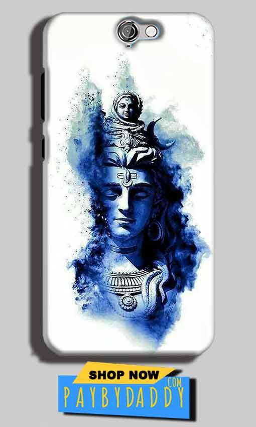HTC One A9 Mobile Covers Cases Shiva Blue White - Lowest Price - Paybydaddy.com