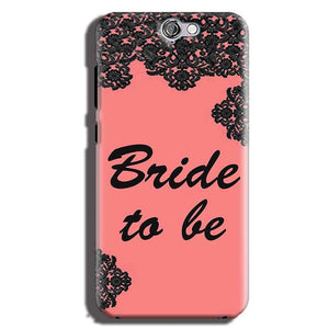 HTC One A9 Mobile Covers Cases Mobile Covers Cases bride to be with ring Black Pink - Lowest Price - Paybydaddy.com
