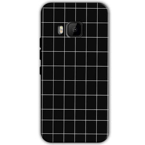 HTC One M9 Mobile Covers Cases Black with White Checks - Lowest Price - Paybydaddy.com